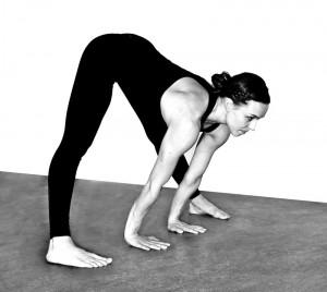 Prasarita padottanasana A, wide-legged forward fold A
